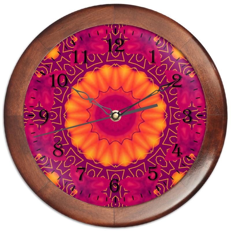 Часы круглые из дерева Printio Privacy