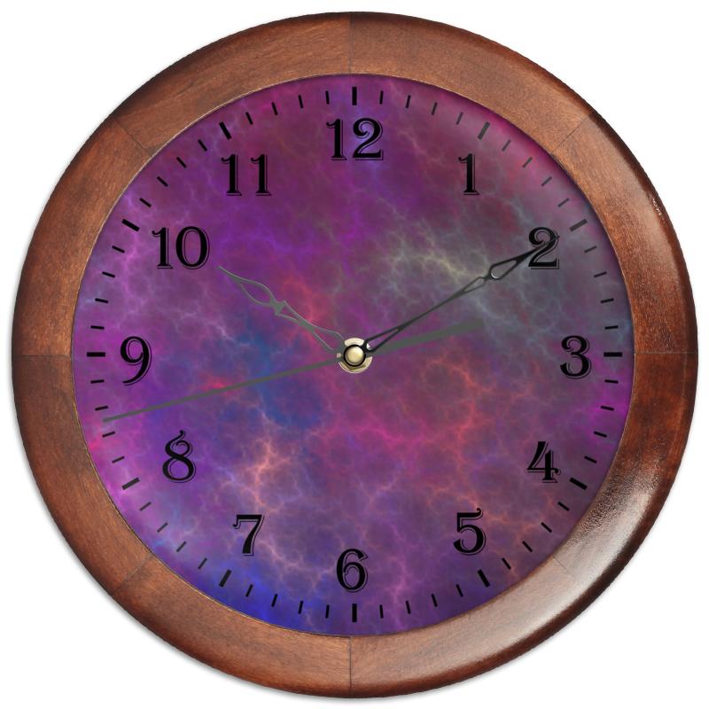 Часы круглые из дерева Printio Абстрактный дизайн