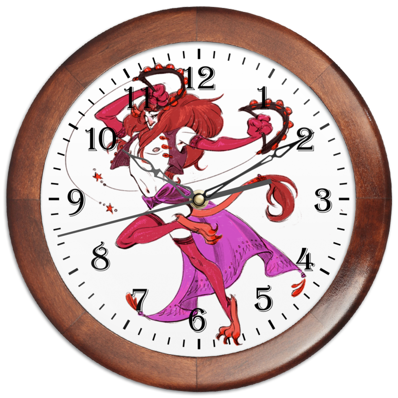 Часы круглые из дерева Printio Знак зодиака лев