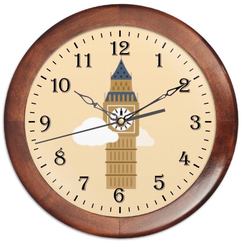 Часы круглые из дерева Printio Big ben