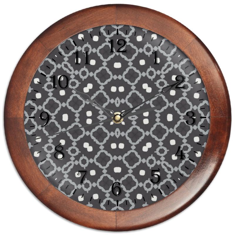 Часы круглые из дерева Printio Returnal