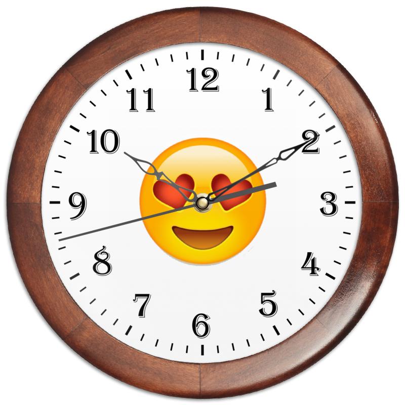 Часы круглые из дерева Printio Сма́йлик aqua minerale с соком лимон напиток негазированный 0 6 л