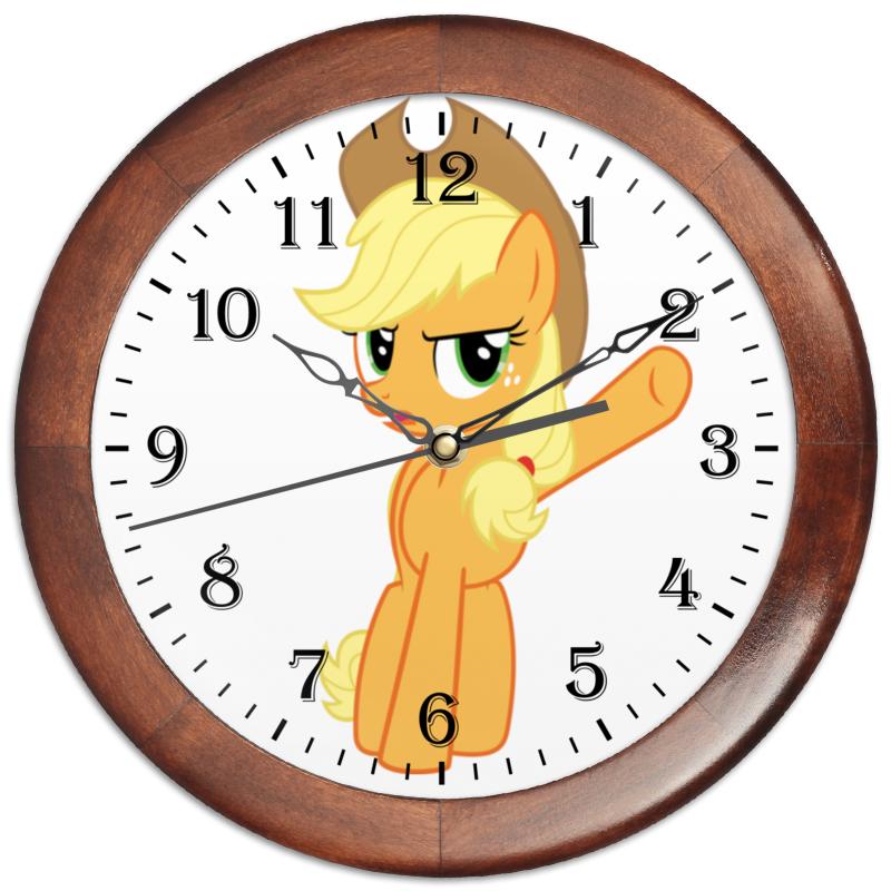 Часы круглые из дерева Printio Do not oversleep! applejack