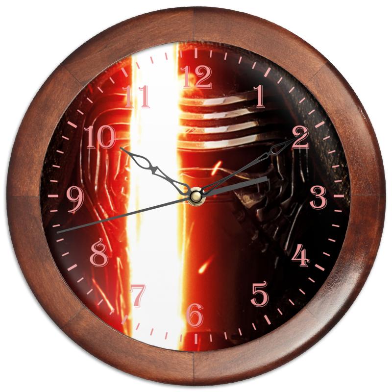 Часы круглые из дерева Printio Звездные войны - кайло рен часы круглые из дерева printio звездные войны по дамерон