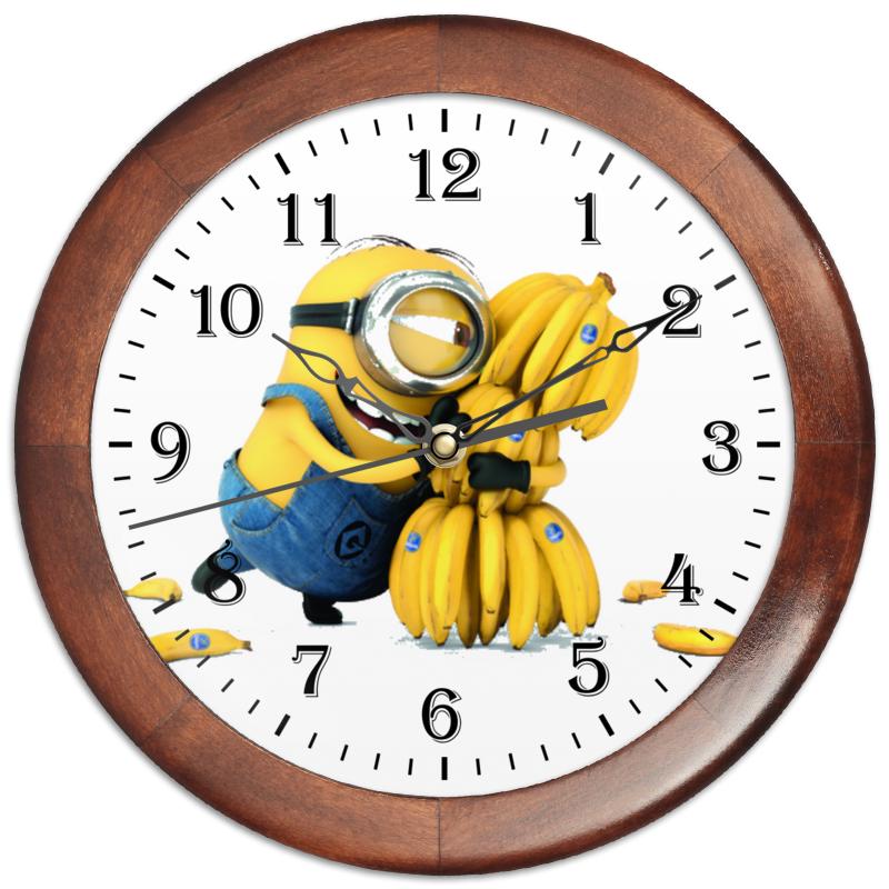 Часы круглые из дерева Printio Миньоны цена и фото