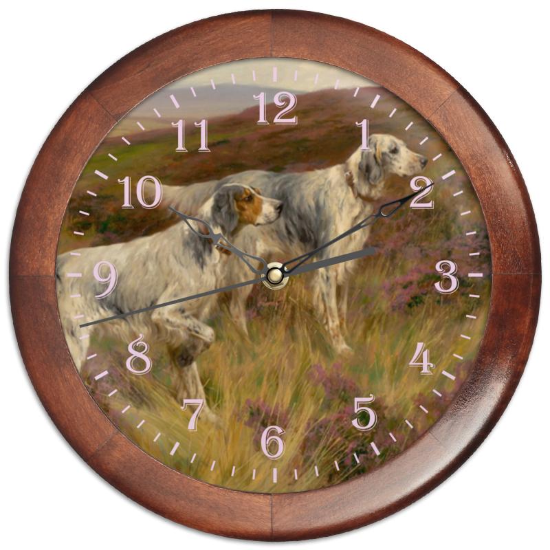 Часы круглые из дерева Printio 2018 год собаки часы круглые из дерева printio забавные собаки