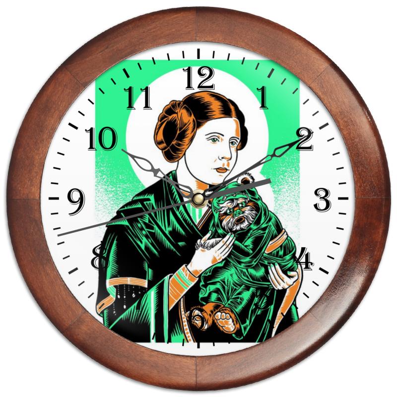 Часы круглые из дерева Printio Преподобная лея часы круглые из пластика printio преподобная лея