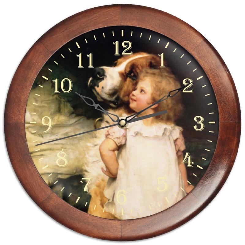 Часы круглые из дерева Printio Картина артура элсли (1860-1952) подарочная коробка малая пенал printio картина артура элсли 1860 1952