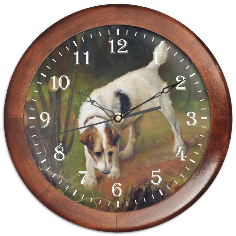 Часы круглые из дерева Printio 2018 год желтой земляной собаки часы круглые из дерева printio забавные собаки