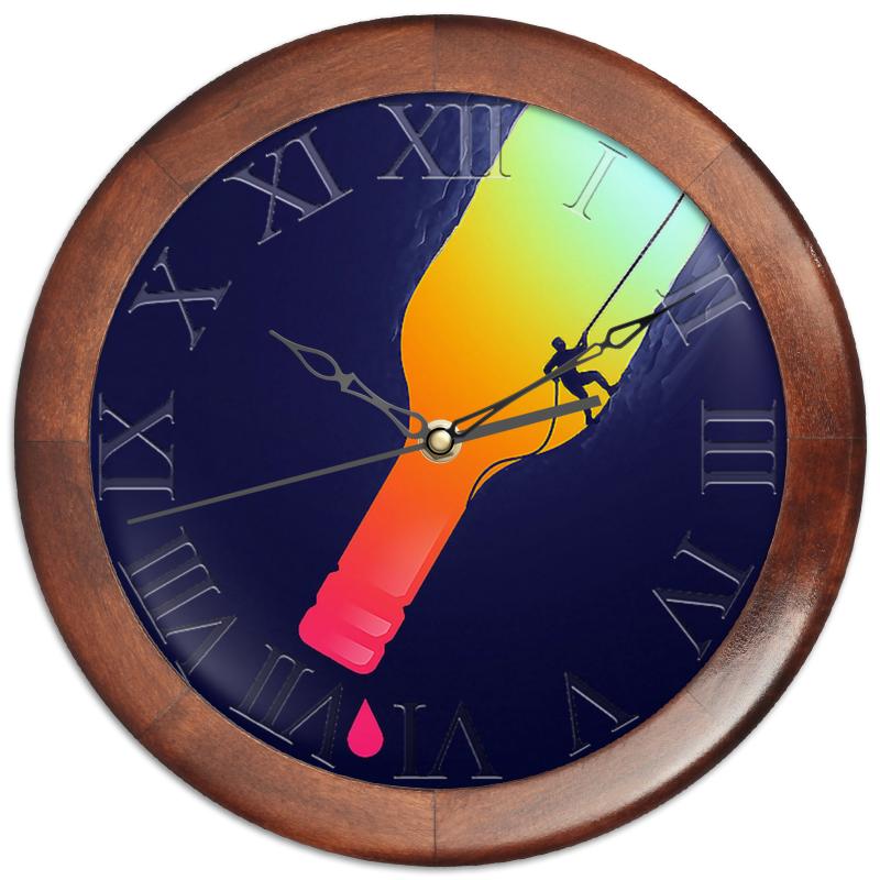 Часы круглые из дерева Printio Из бутылки часы круглые из дерева printio трус балбес бывалый 2