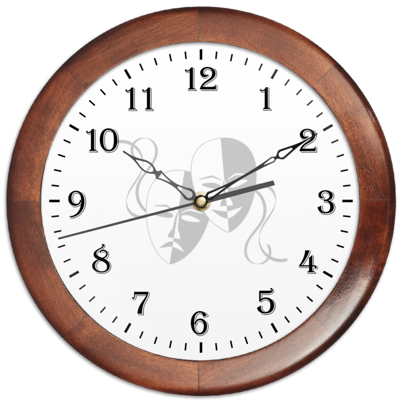 Часы круглые из дерева Printio Маски часы круглые из дерева printio боярышник и осень