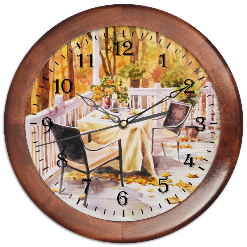 Часы круглые из дерева Printio Свидание с осенью конфеты круглые с ромом купить в иркутске