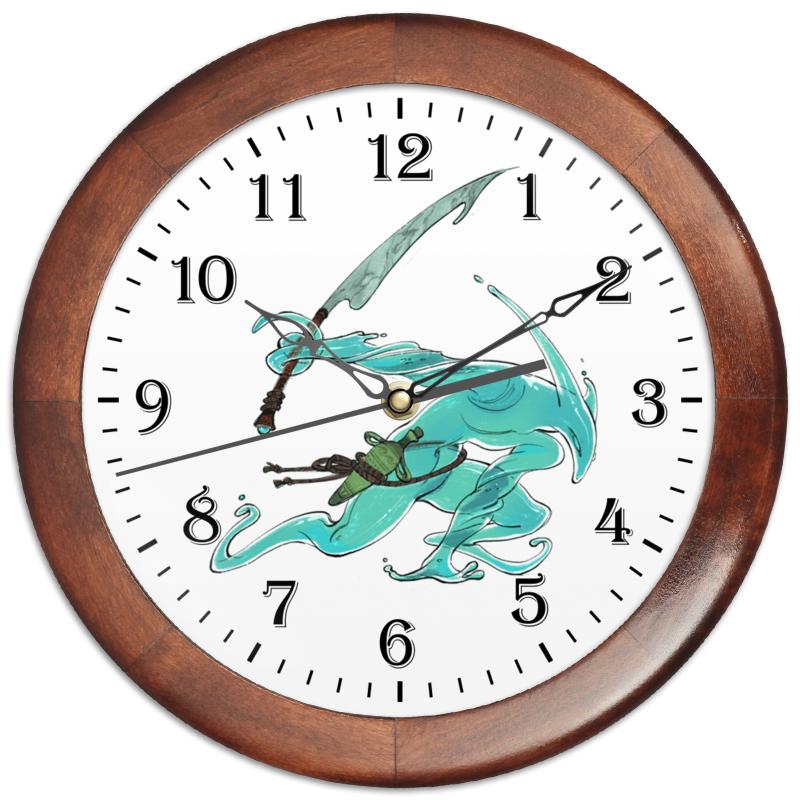 Часы круглые из дерева Printio Знак зодиака водолей