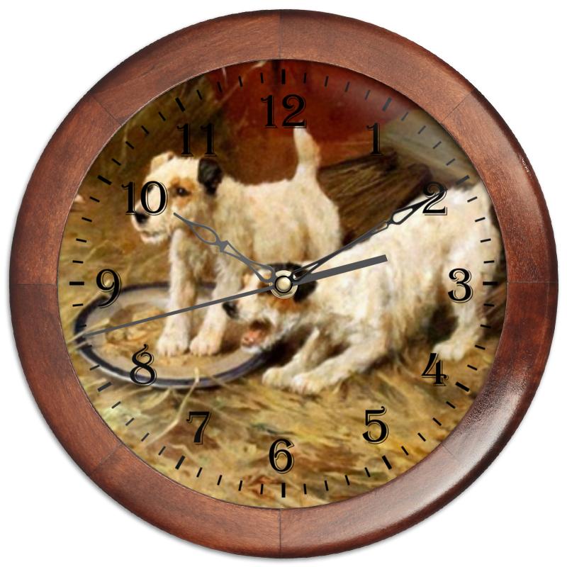 Часы круглые из дерева Printio 2018 год желтой собаки часы круглые из дерева printio забавные собаки