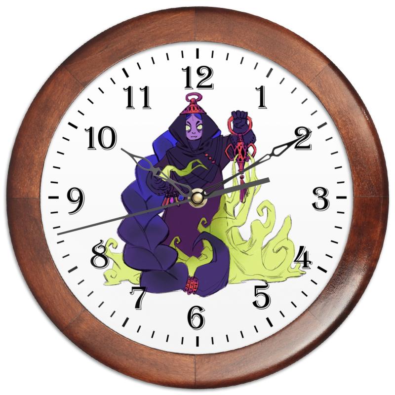 Часы круглые из дерева Printio Знак зодиака скорпион