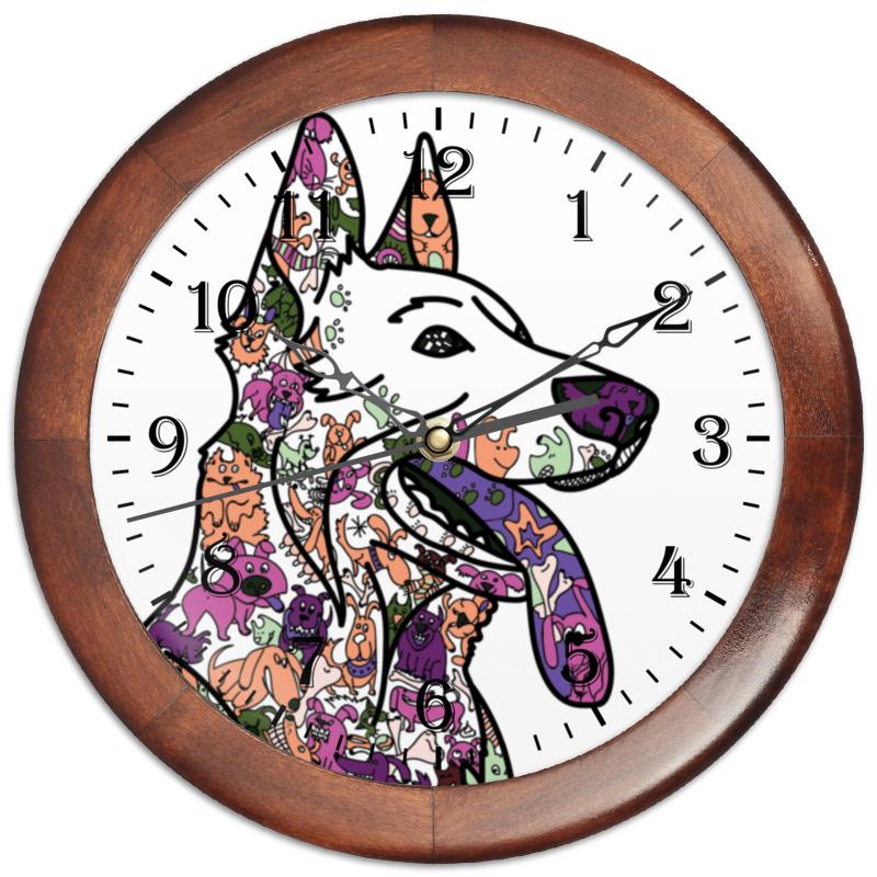 Часы круглые из дерева Printio Забавные собаки часы круглые из дерева printio забавные собаки