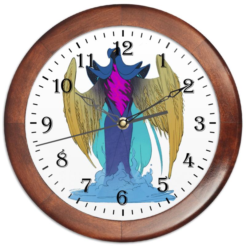 Часы круглые из дерева Printio Знак зодиака дева