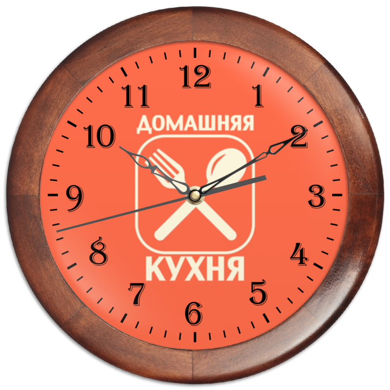 Часы круглые из дерева Printio Домашняя кухня время краситель пищевой домашняя кухня жидкий синий 25 г