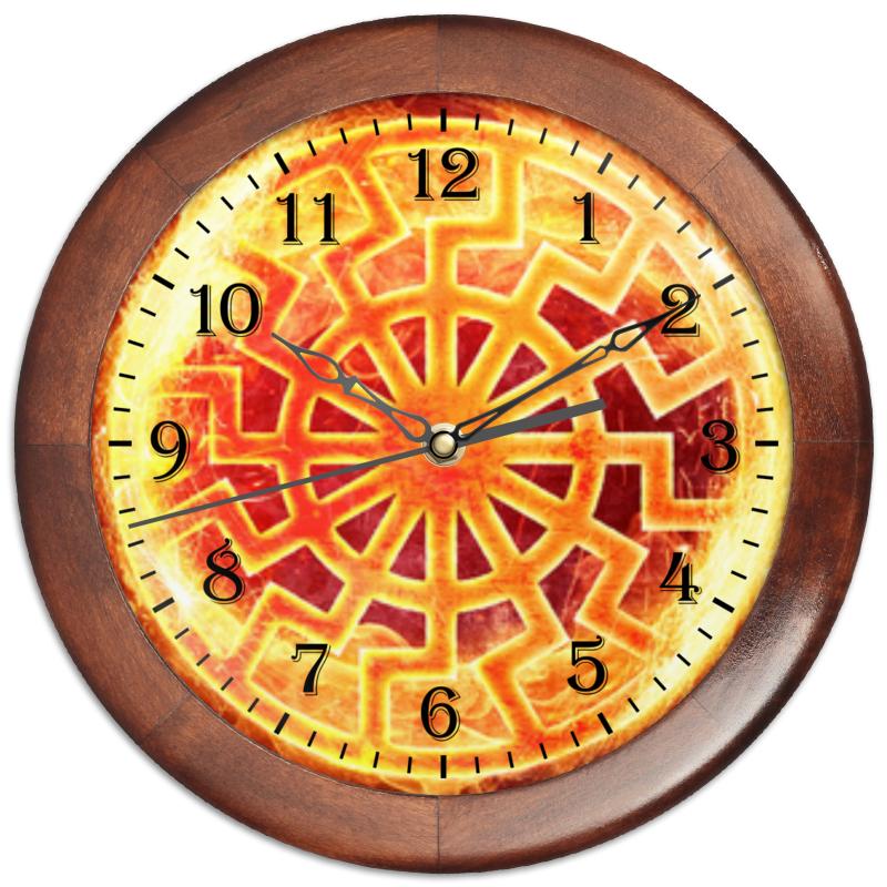 Часы круглые из дерева Printio Пламя!!! часы круглые из дерева printio символ нового века
