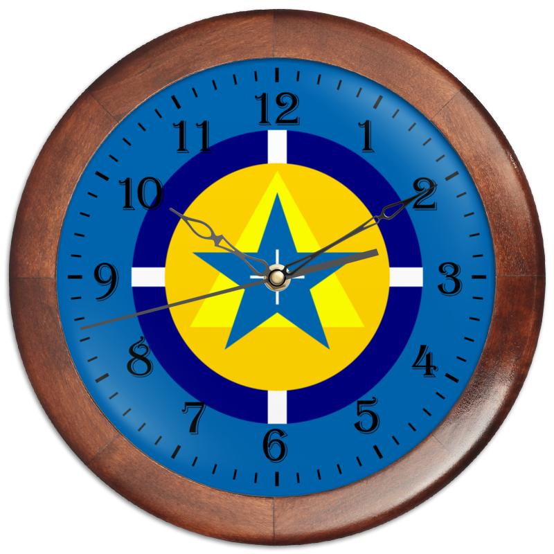 цена на Часы круглые из дерева Printio Символ нового века