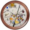 """Часы круглые из дерева """"Тонкое напряжение (Василий Кандинский)"""" - картина, живопись, абстракционизм, кандинский, синий всадник"""