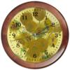 """Часы круглые из дерева """"Подсолнухи (Винсент Ван Гог)"""" - картина, ван гог"""