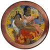 """Часы круглые из дерева """"Когда свадьба? (Поль Гоген)"""" - картина, поль гоген"""