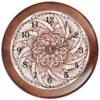 """Часы круглые из дерева """"Цветок в стиле мехенди"""" - цветы, этно, мандала, индийский, мехенди"""