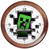 "Часы круглые из дерева ""Minecraft """