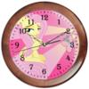 "Часы круглые из дерева ""Fluttershy Color Line"" - magic, fim, fluttershy, cutiemark, friendship"