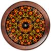 """Часы круглые из дерева """"хохлома """" - народный, арнамент, раскраска, русский иероглиф"""