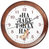 """Часы круглые из дерева """"#НАЛАБУТЭНАХНАХ by K.Karavaev"""" - ленинград, шнур, лабутен, лабутэн, налабутенах"""