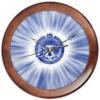 """Часы круглые из дерева """"FC Zenit"""" - зенит, футбол, арт, спорт, football, футбольный клуб, fc zenit"""