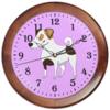 """Часы круглые из дерева """"ДЖЕК РАССЕЛ.СОБАКА"""" - майкл джексон, щенок, собака, животное, рассел"""