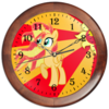 "Часы круглые из дерева ""Sunset Shimmer Color Line"" - sun, cutiemark, sunset shimmer"