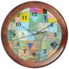 """Часы круглые из дерева """"Товарищеский матч (Пауль Клее)"""" - картина, живопись, сюрреализм, клее, синий всадник"""