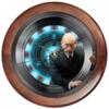 """Часы круглые из дерева """"President (Putin)"""" - фантастика, путин, президент, железный человек, куранты"""