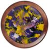 """Часы круглые из дерева """"Акрил"""" - краски, абстракция, искуство, художник"""