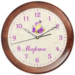 """Часы круглые из дерева """"8 Марта Женский день"""" - 8 марта, птицы, подарок, цветочки, маме"""