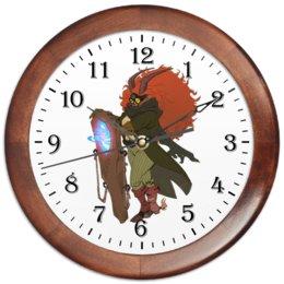 """Часы круглые из дерева """"Знак Зодиака Козерог"""" - знак зодиака козерог, товары для козерогов, подарок для козерога, символ знака козерог"""