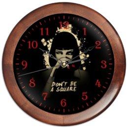 """Часы круглые из дерева """"Pulp Fiction"""" - тарантино, ума турман, криминальное чтиво, mia"""