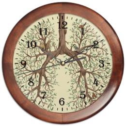 """Часы круглые из дерева """"Легкие """" - арт, дерево, легкие"""