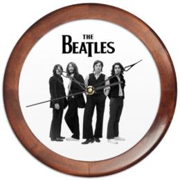 """Часы круглые из дерева """"Beatles"""" - музыка, beatles, битлз"""