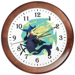 """Часы круглые из дерева """"Знак зодиака Рыбы"""" - знак зодиака рыбы, подарок для рыб, товары для рыб, символ знака рыбы, товары для интерьера"""