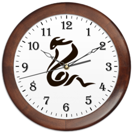 "Часы круглые из дерева ""Кобра"" - змея, кобра, змеи, snake, cobra, snakes"