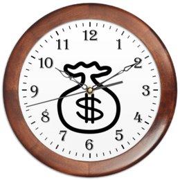 """Часы круглые из дерева """"Амулет для притягивания денег."""" - удача, бизнес, прибыль, доллары, амулет"""