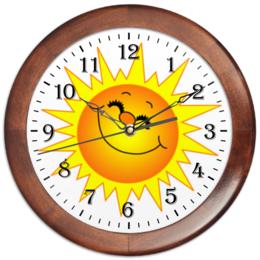 "Часы круглые из дерева ""Солнышко"" - солнце, солнышко, sun, sunny"
