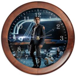 """Часы круглые из дерева """"Звездные войны - По Дамерон"""" - фантастика, звездные войны, дарт вейдер, кино, star wars"""