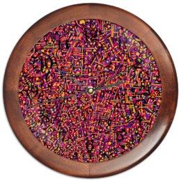"""Часы круглые из дерева """"Карамель."""" - арт, узор, абстракция, фигуры, текстура"""