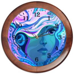 """Часы круглые из дерева """"Нимфа """" - девушка, нимфа"""